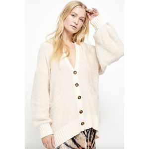 Free People Snow Drop Cardigan S Button Slouchy